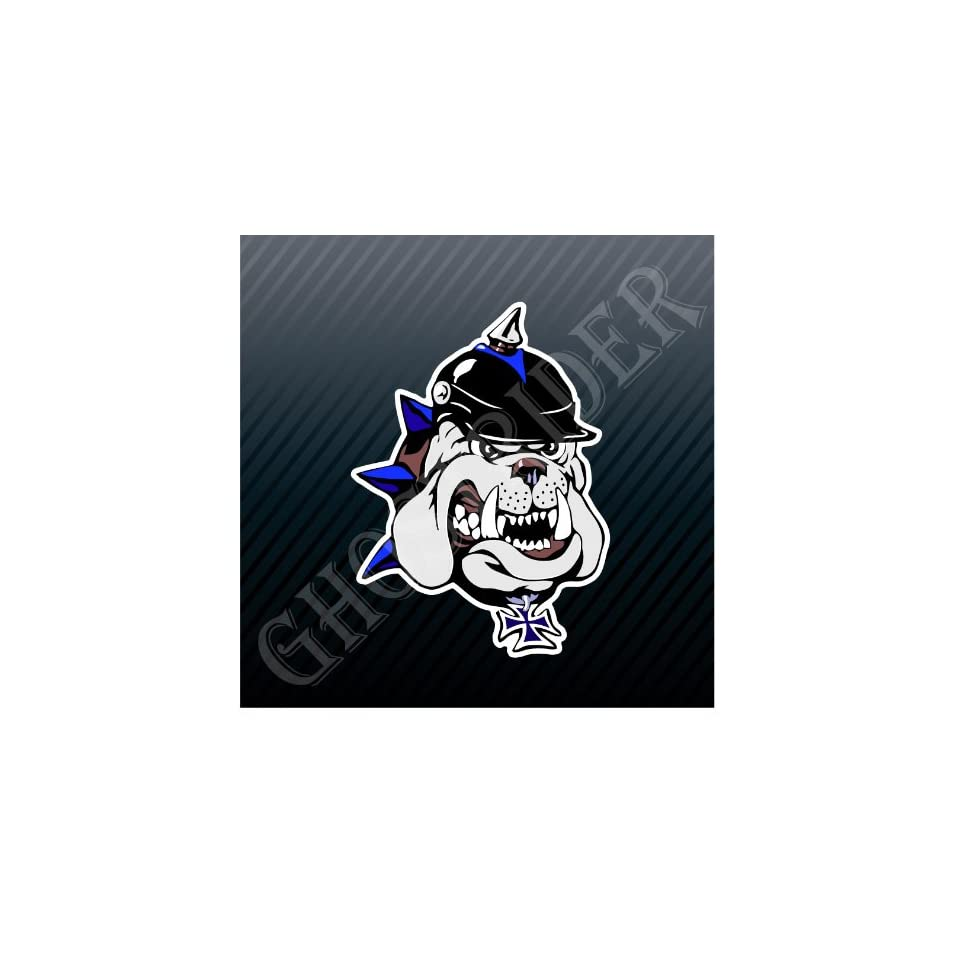 Bulldog English Dog Iron Cross Car Trucks Sticker Decal