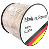 "Lautsprecherkabel transparent 2,5mm� - 50m - Qualit�tsware Made in Germany - Reines Kupfervon ""Media-Halle?"""