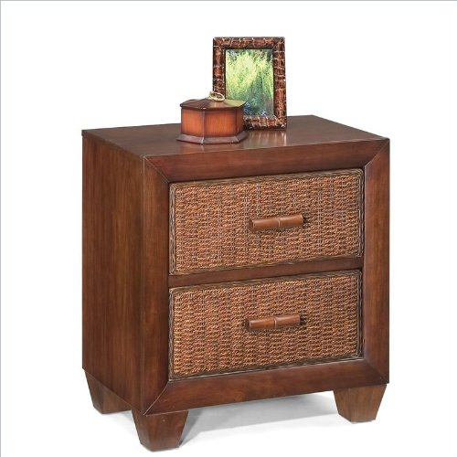 Home Styles Cabana Banana Night Stand / Side Table in Cocoa