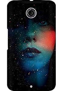 AMEZ designer printed 3d premium high quality back case cover for Motorola Nexus 6 (abstract girl)