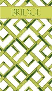 Entertaining with Caspari Bridge Score Pad, Bamboo Green