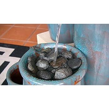 Kenroy Home #50008BG Agua Indoor/Outdoor Floor Fountain in Blue Glaze Finish