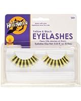 Rubies Yellow and Black Eyelashes and Adhesive