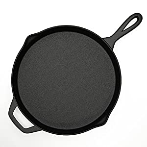 Home-Complete Cast Iron Skillet Pan - 12 Inch