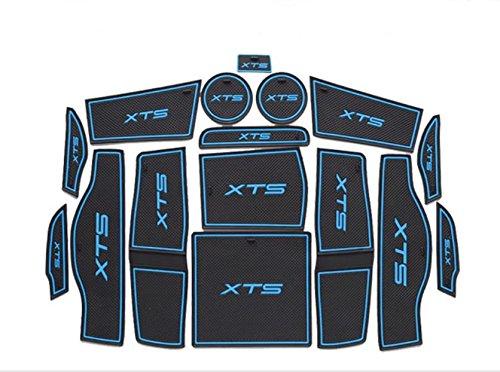 Moonet Heavy Duty Non-slip Interior door Cup Holder Mats Mat For 2014 2015 Cadillac XTS 16PCS Blue