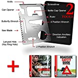 SOS Rescue Tools - 11 in 1 Credit Card Survival Tool is the Ultimate Survival Tool Making it an Integral Part of Your Camping Gear (2 Pack)