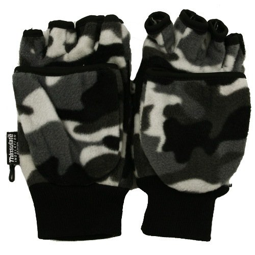 Camo Fleece Fingerless Glove - City Camo