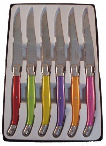 Laguiole I7209P6-NT Confezione di 6 coltelli da tavola 6 colori pastello