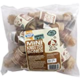Good Boy Rawhide Knotted Bones 100mm, Pack of 20