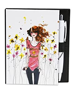 Izak by H2Z 06267 Hello Sunshine Notepad with Pen, 4-1/2 by 4-Inch