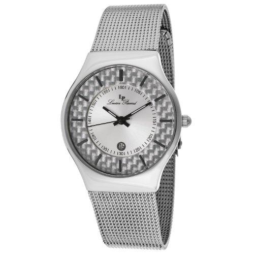 Lucien Piccard Women's LP-110842-02S Bernard Silver Dial Stainless Steel Mesh Watch