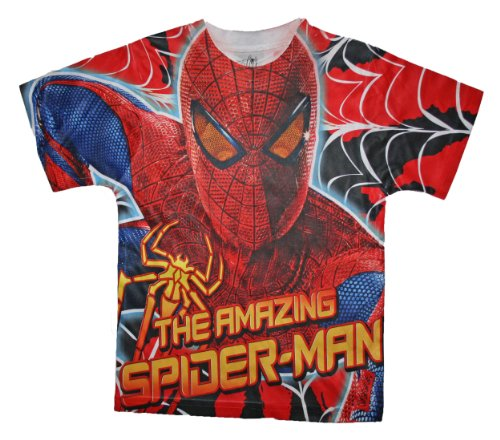 The Amazing Spiderman Boys Allover Print T Shirt (6/7) (704386565206)