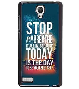 Printvisa Confidence Quote In A Blue Background Back Case Cover for Xiaomi Redmi Note::Xiaomi Redmi Note 4G