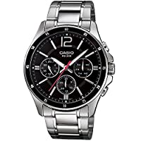 Casio Enticer Black Dial Men's Watch - MTP-1374D-1AVDF (A832)