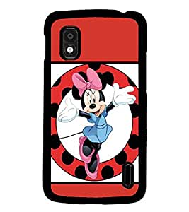 PrintDhaba Minnie Mouse D-1361 Back Case Cover for LG GOOGLE NEXUS 4 (Multi-Coloured)