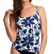 Fantasie Santorini Underwire Scoop Neck Tankini Swim Top (FS5724) 34E/Midnight