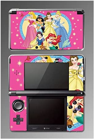 Princess Snow White Ariel Friends Game Vinyl Decal Cover Skin Protector for Nintendo 3DS