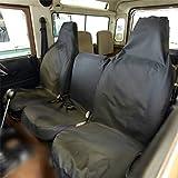 Land Rover Defender (90 110) - Housse De Siège Avant Taillé 1983-2007 Noir
