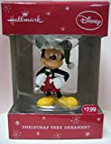 Hallmark Disney Mickey Mouse Christmas Ornament with Green Hat and Green Candy Cane