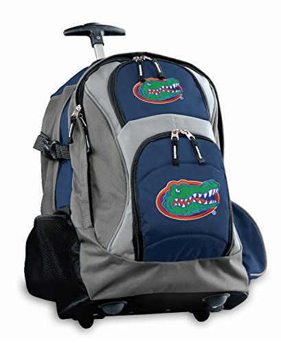 Florida Gators Rolling Backpack Deluxe Navy University Of Florida Backpacks Bag