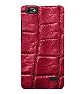 wine coloured leather pattern 3D Hard Polycarbonate Designer Back Case Cover for Huawei Honor 4C :: Huawei G Play Mini