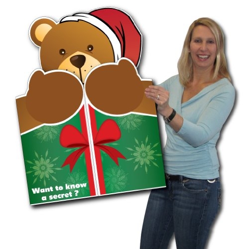 2'x3' Giant Bear Hug Merry Christmas Greeting