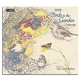 Birds in the Garden by Sherri Buck Baldwin 2008 Lang Wall Calendar