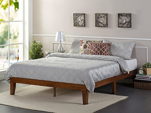 Zinus 12 Inch Solid Wood Platform Bed / No Boxspring needed / Wood Slat Support, Queen (Wood Slat Bed compare prices)