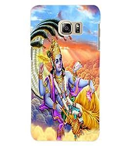 ColourCraft Lord Vishnu Design Back Case Cover for SAMSUNG GALAXY NOTE 5 EDGE