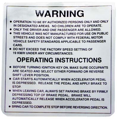 Decal, 8 Safety Rules