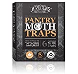 Premium Pantry Moth Traps (6 Black Traps) With Pheromone Attractant | 100% Safe, Non-Toxic and Insecticide Free! | by Dr. Killigans