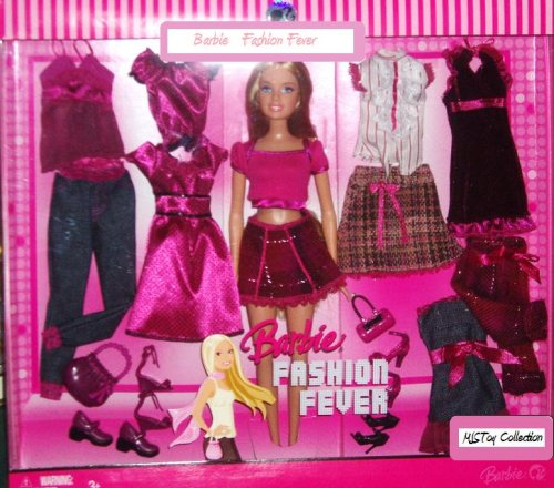 Barbie - Fashion Fever - Trend Fashion Giftset maroon Outfit + Doll - Buy Barbie - Fashion Fever - Trend Fashion Giftset maroon Outfit + Doll - Purchase Barbie - Fashion Fever - Trend Fashion Giftset maroon Outfit + Doll (Barbie, Toys & Games,Categories,Dolls,Playsets,Fashion Doll Playsets)