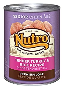 The Nutro Company Senior Dog Food with Turkey and Rice Formula, 12.5-Ounce