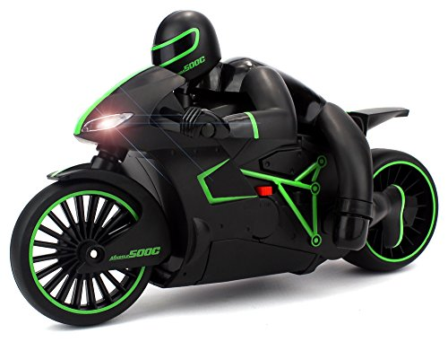 Velocity Toys Speed Lightning Remote Control RC Motorcycle Car 2.4 GHz Control System Rechargeable RTR w/ Bright LED Headlights (Colors May Vary) (Motor Speed Airsoft compare prices)