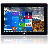 "10"" Windows 10 Fusion5® Ultra Slim Windows Tablet PC - 2GB RAM - 32GB Storage -Full USB Port - Touch Screen - Intel Baytrail-T CR (Quad-core) Z3735F (G) - Dual Camera - Bluetooth Tablet PC (10"" IPS Windows 10 2G 32G)"