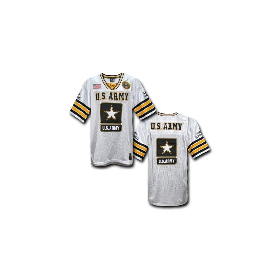9a8bcb32b Rapid Dominance US ARMY Military Football Jersey (White