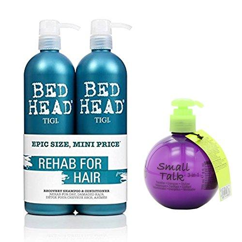 Bundle - 3 items: TIGI Bed Head Urban Anti-dote Recovery Shampoo & Conditioner Duo, 25.36 oz & Small Talk Thickifier, 8 oz (Bed Head Conditioner 3 compare prices)