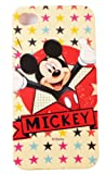 BUKIT CELL Disney ® Mickey Mouse HARD BACK PIECE Faceplate Protector Case Cover (Yellow Mickey with Stars) for Apple iPhone 4S / 4G / 4 (Fits any carrier AT&T, VERIZON AND SPRINT) + Free WirelessGeeks247 Metallic Detachable Touch Screen STYLUS PEN with Anti Dust Plug