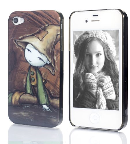 Cartoon Drawings Case For Apple Iphone 4 And 4S (Wizard Hat) - Retail Packaging