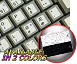 NORWEGIAN NON-TRANSPARENT KEYBOARD STICKERS ON WHITE BACKGROUND FOR NETBOOK