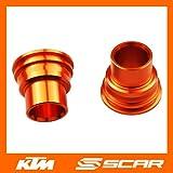 REAR WHEEL SPACERS KTM SX SXF SX-F EXC 85 125 150 250 300 350 450 ORANGE SCAR