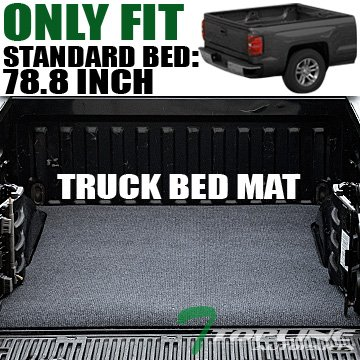 Topline Autopart Black Truck Bed Cargo Box Trunk Floor Rug Mat Carpet 07-16 Silverado/Sierra 6.5 Ft (2014 Silverado Cargo Hooks compare prices)