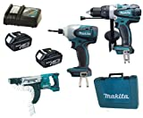 Makita 18V LXT Li Ion LXT202 Kit BHP458, BTD140 & BFR750 BFR750Z BFR750Rfe Screw Gun