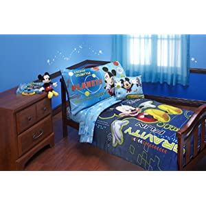 Mickey Mouse Twin Size 3 Piece Comforter Set