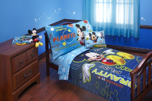 Disney Mickey Mouse Space Adventures 4 Piece Toddler Set, Blue - 1