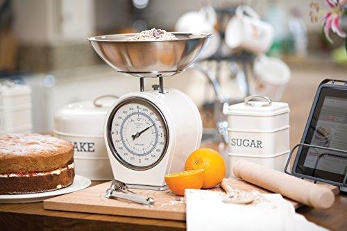 Vivre nostalgie 1-piece kitchen craft salon nostalgie mécanique balance de cuisine, blanc