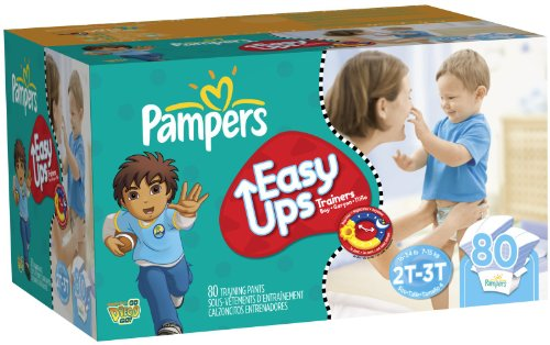 Pampers Easy Ups Boy Trainers Diapers Super Pack -- size: 2t-3t