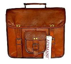ADIMANI Vintage Leather Messenger Bag 13x4x10 Inches Leather Laptop MacPro 13inch Bag Handmade Briefcase Crossbody Shoulder Messenger Bag Brown