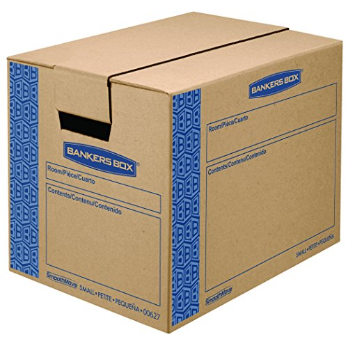 Bankers Box SmoothMove Prime Moving Boxes, Tape-Free and Fast-Fold Assembly, Small, 16 x 12 x 12 Inches, 10 Pack (0062701) (Moving Boxes For Books compare prices)