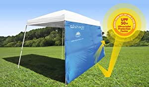 ezShade 10' Angled Canopy Sidewall (Award Winning) - Blocks 99% UVA/UVB - Keeps you COOLER, DOUBLES your SHADE and INSTANTLY ATTACHES to ANY 10'x10' Angled Leg Canopy - (ONLY 16 OZ)(Other sizes, search ezShade) from Solar Eclipz